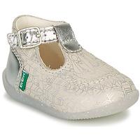 kengät Tytöt Balleriinat Kickers BONBEK-2 Hopea