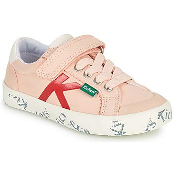 kengät Tytöt Matalavartiset tennarit Kickers GODY Vaaleanpunainen
