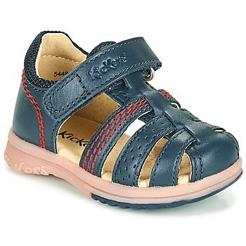 kengät Pojat Sandaalit ja avokkaat Kickers PLATIBACK Laivastonsininen