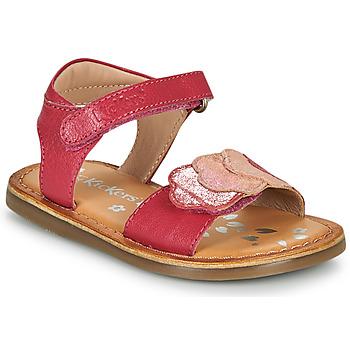 kengät Tytöt Sandaalit ja avokkaat Kickers DYASTAR Vaaleanpunainen