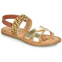 kengät Tytöt Sandaalit ja avokkaat Kickers DYACROSS Kulta