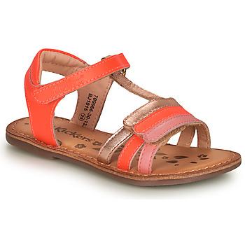 kengät Tytöt Sandaalit ja avokkaat Kickers DIAMANTO Vaaleanpunainen
