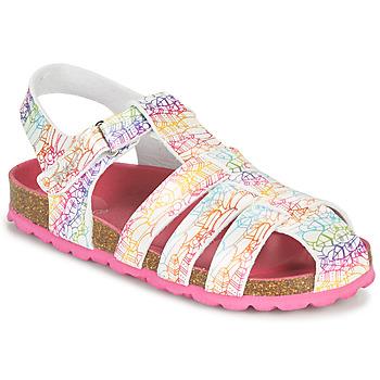 kengät Tytöt Sandaalit ja avokkaat Kickers SUMMERTAN Valkoinen