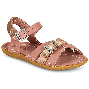 kengät Tytöt Sandaalit ja avokkaat Kickers PEPETE Vaaleanpunainen