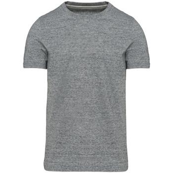 vaatteet Miehet Lyhythihainen t-paita Kariban Vintage KV2106 Slub Grey Heather