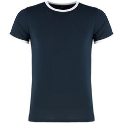 vaatteet Miehet Lyhythihainen t-paita Kustom Kit KK508 Navy/White