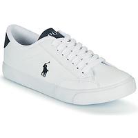 kengät Lapset Matalavartiset tennarit Polo Ralph Lauren THERON IV Valkoinen / Laivastonsininen