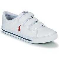 kengät Lapset Matalavartiset tennarit Polo Ralph Lauren ELMWOOD EZ Valkoinen