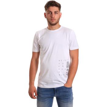 vaatteet Miehet Lyhythihainen t-paita Antony Morato MMKS01223 FA100144 Valkoinen