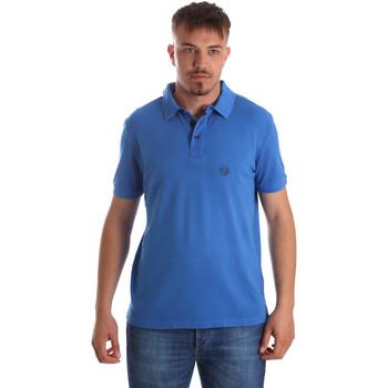 vaatteet Miehet Lyhythihainen poolopaita Gaudi 911BU64063 Sininen