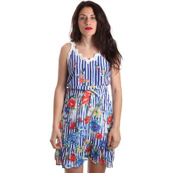 vaatteet Naiset Lyhyt mekko Fracomina FR19SP563 Sininen