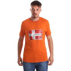 vaatteet Miehet Lyhythihainen t-paita Napapijri N0YIJ4 Oranssi