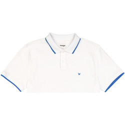 vaatteet Miehet Lyhythihainen poolopaita Wrangler W7D5K4989 Valkoinen