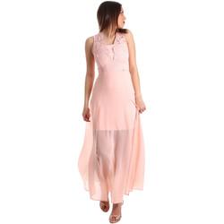 vaatteet Naiset Pitkä mekko Gaudi 911FD15004 Vaaleanpunainen