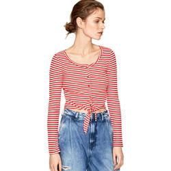 vaatteet Naiset T-paidat pitkillä hihoilla Pepe jeans PL504453 Punainen