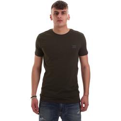 vaatteet Miehet Lyhythihainen t-paita Antony Morato MMKS01417 FA120001 Vihreä