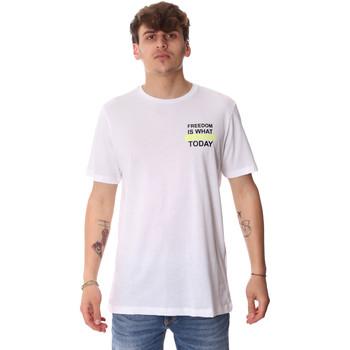 vaatteet Miehet Lyhythihainen t-paita Antony Morato MMKS01786 FA100189 Valkoinen