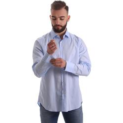 vaatteet Miehet Pitkähihainen paitapusero Gmf 962111/21 Sininen
