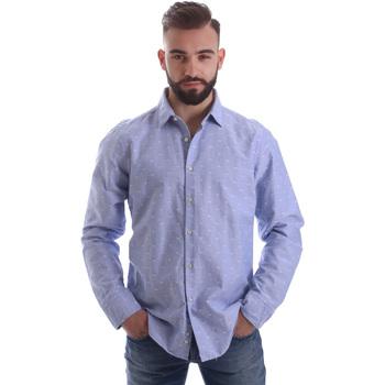 vaatteet Miehet Pitkähihainen paitapusero Gmf 962118/03 Sininen