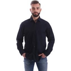vaatteet Miehet Pitkähihainen paitapusero Gmf 962250/01 Sininen