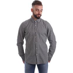 vaatteet Miehet Pitkähihainen paitapusero Gmf 962169/04 Musta