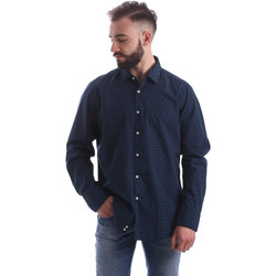 vaatteet Miehet Pitkähihainen paitapusero Gmf 962157/06 Sininen