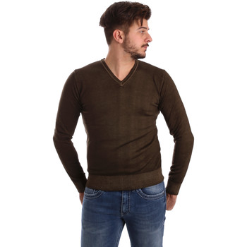 vaatteet Miehet Neulepusero Wool&co WO0002 Ruskea