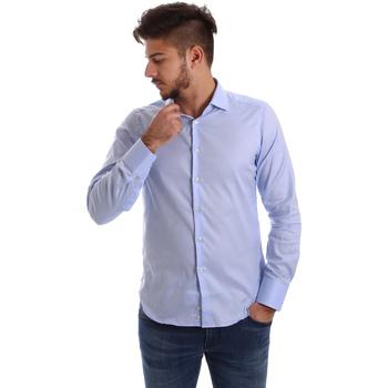 vaatteet Miehet Pitkähihainen paitapusero Gmf 962103/03 Sininen