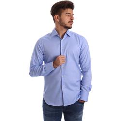vaatteet Miehet Pitkähihainen paitapusero Gmf 962103/04 Sininen