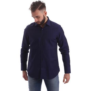 vaatteet Miehet Pitkähihainen paitapusero Gmf 962103/05 Sininen