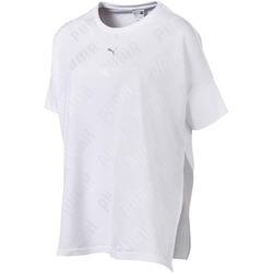 vaatteet Naiset Lyhythihainen t-paita Puma 575090 Valkoinen