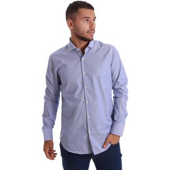 vaatteet Miehet Pitkähihainen paitapusero Gmf 971263/01 Sininen