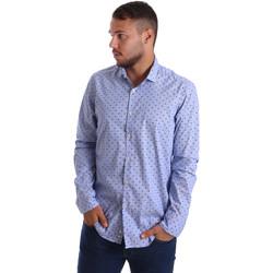 vaatteet Miehet Pitkähihainen paitapusero Gmf 971200/04 Sininen