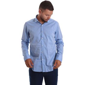 vaatteet Miehet Pitkähihainen paitapusero Gmf 971208/03 Sininen