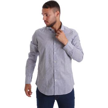 vaatteet Miehet Pitkähihainen paitapusero Gmf 971184/02 Sininen