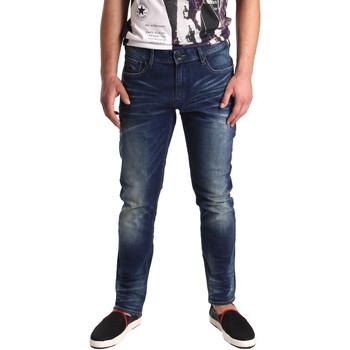 vaatteet Miehet Slim-farkut Superdry M70003KOF5 Sininen