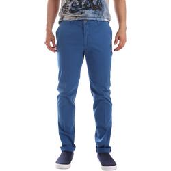 vaatteet Miehet Chino-housut / Porkkanahousut Sei3sei PZVI69 7148 Sininen