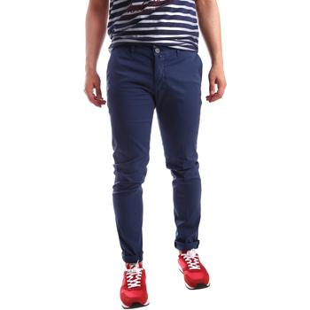 vaatteet Miehet Chino-housut / Porkkanahousut Sei3sei PZV21 7183 Sininen