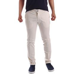 vaatteet Miehet Chino-housut / Porkkanahousut Sei3sei PZV21 7148 Valkoinen