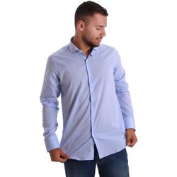 vaatteet Miehet Pitkähihainen paitapusero Gmf 971101/03 Sininen