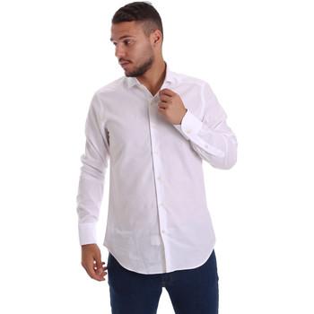 vaatteet Miehet Pitkähihainen paitapusero Gmf 971111/11 Valkoinen