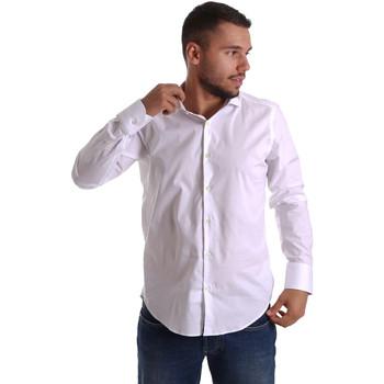 vaatteet Miehet Pitkähihainen paitapusero Gmf 971250/01 Valkoinen