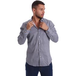 vaatteet Miehet Pitkähihainen paitapusero Gmf 971185/03 Musta