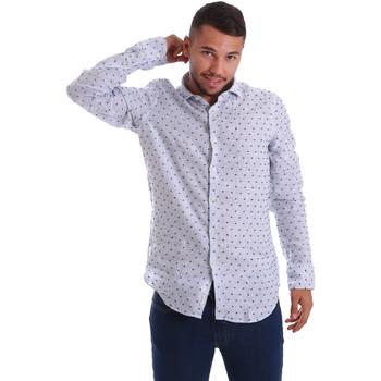 vaatteet Miehet Pitkähihainen paitapusero Gmf 971312/01 Sininen