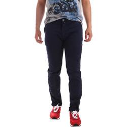 vaatteet Miehet Chino-housut / Porkkanahousut Sei3sei PZV20 7148 Sininen