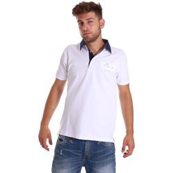 vaatteet Miehet Lyhythihainen poolopaita Bradano 000115 Valkoinen