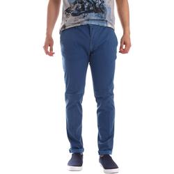 vaatteet Miehet Chino-housut / Porkkanahousut Sei3sei PZV156 71341 Sininen