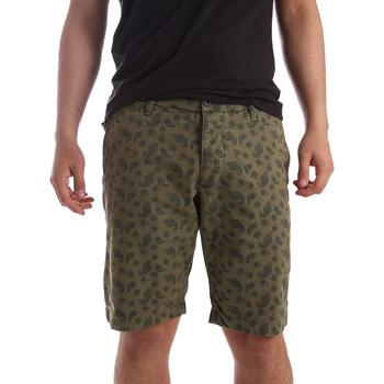 vaatteet Miehet Shortsit / Bermuda-shortsit Ransom & Co. BRAD-P155 Vihreä