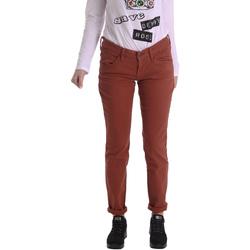 vaatteet Naiset 5-taskuiset housut Fornarina BIR1G41G28050 Ruskea