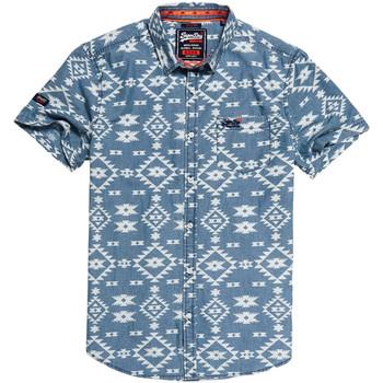 vaatteet Miehet Lyhythihainen paitapusero Superdry M40101KT Sininen